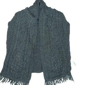 Wool knit wrap/shawl
